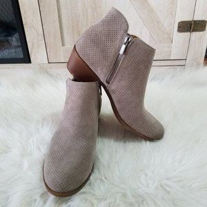 NWT Lucky Brand Leather & Suede Ankle Booties